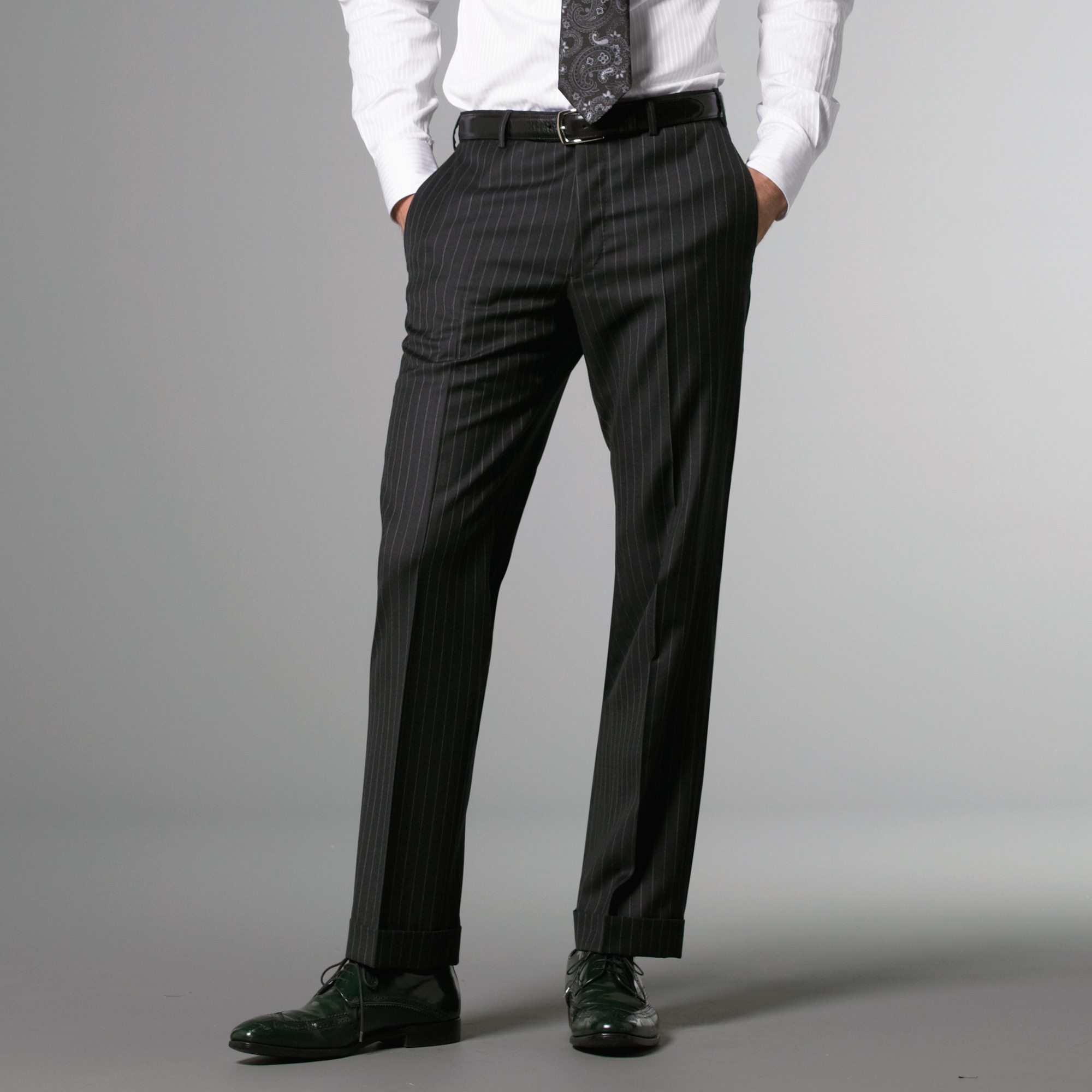 Charcoal Medium Pinstripe Pant